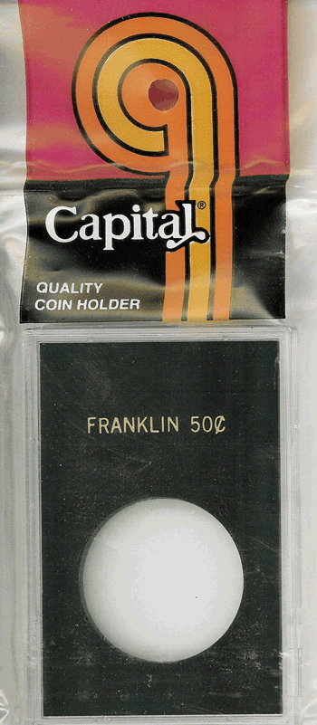 Capital Plastics Franklin Half Dollar Coin Holder