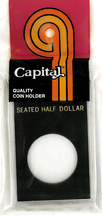 Seated Liberty Half Dollar Capital Plastics Coin Holder Caps Black 2x3 Seated Liberty Half Dollar Capital Plastics Coin Holder Caps Black, Capital, Caps