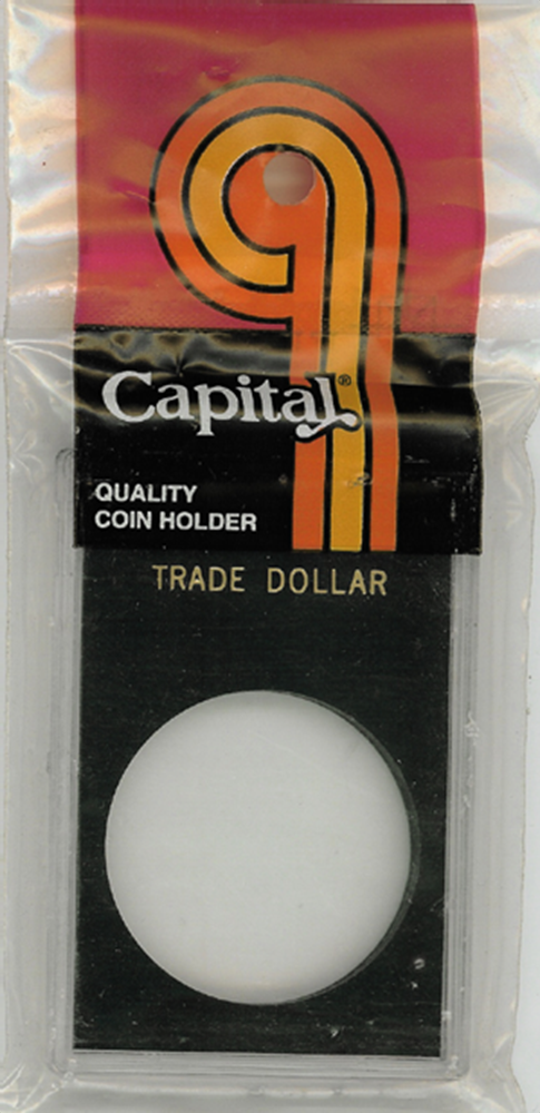 Trade Dollar Capital Plastics Coin Holder Caps Black 2x3 Trade Dollar Capital Plastics Coin Holder Caps Black, Capital, Caps