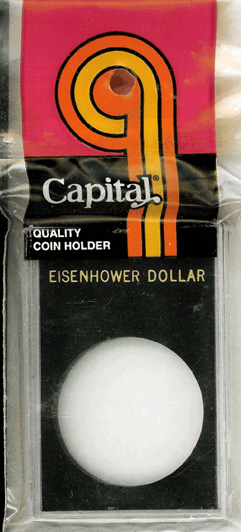 Eisenhower Dollar Capital Plastics Coin Holder Caps Black 2x3 Eisenhower Dollar Capital Plastics Coin Holder Caps Black, Capital, Caps