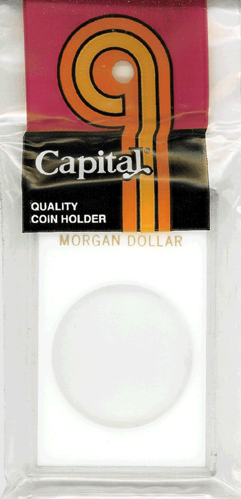 Morgan Dollar Capital Plastics Coin Holder Caps White 2x3 Morgan Dollar Capital Plastics Coin Holder Caps White, Capital, Caps