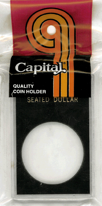 Seated Liberty Dollar Capital Plastics Coin Holder Caps Black 2x3 Seated Liberty Dollar Capital Plastics Coin Holder Caps Black, Capital, Caps