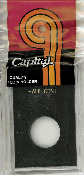 Half Cent Capital Plastics Coin Holder Caps Black 2x3 Half Cent Capital Plastics Coin Holder Caps Black, Capital, Caps