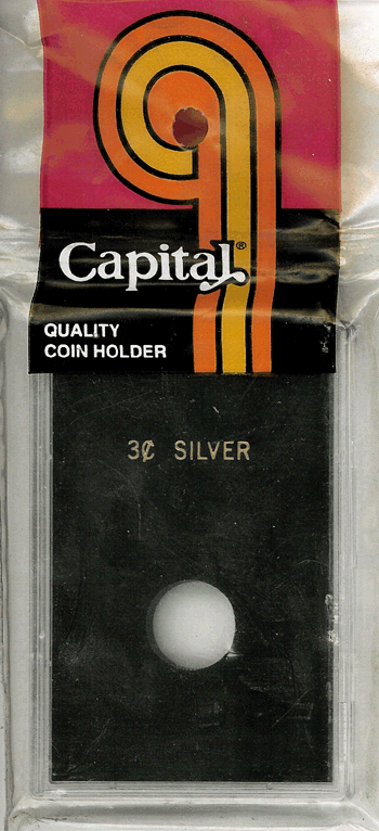 3 Cent Silver Capital Plastics Coin Holder Caps Black 2x3 3 Cent Silver Capital Plastics Coin Holder Caps Black, Capital, Caps