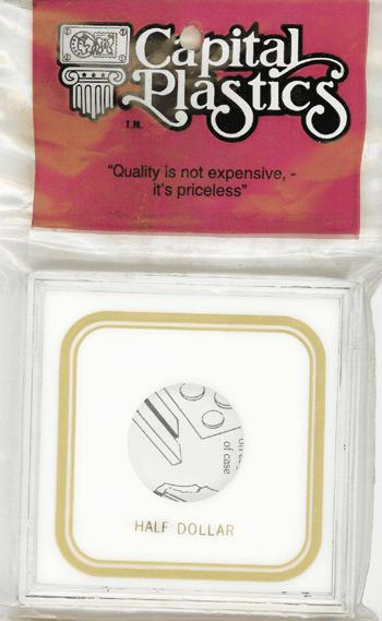 Half Dollar Capital Plastics Coin Holder VPX White 3.3x3.3 Half Dollar Capital Plastics Coin Holder VPX White, Capital, VPX