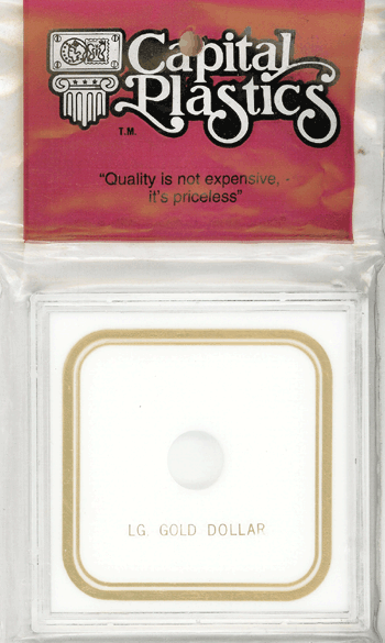 Large Gold Types 2 & 3 Dollar Capital Plastics Coin Holder VPX White 3.3x3.3 Large Gold Types 2 & 3 Dollar Capital Plastics Coin Holder VPX White, Capital, VPX