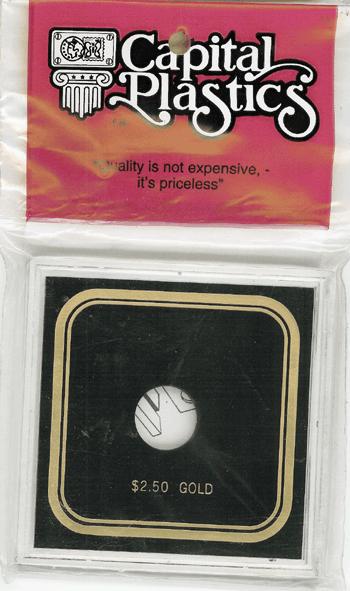 $2.50 Gold Capital Plastics Coin Holder VPX Black 3.3x3.3 $2.50 Gold Capital Plastics Coin Holder VPX Black, Capital, VPX