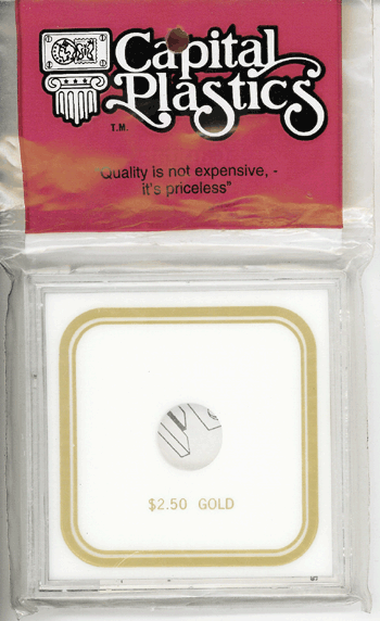 $2.50 Gold Capital Plastics Coin Holder VPX White 3.3x3.3 $2.50 Gold Capital Plastics Coin Holder VPX White, Capital, VPX