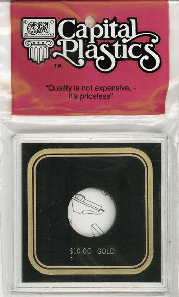 $10 Gold Capital Plastics Coin Holder VPX Black 3.3x3.3 $10 Gold Capital Plastics Coin Holder VPX Black, Capital, VPX