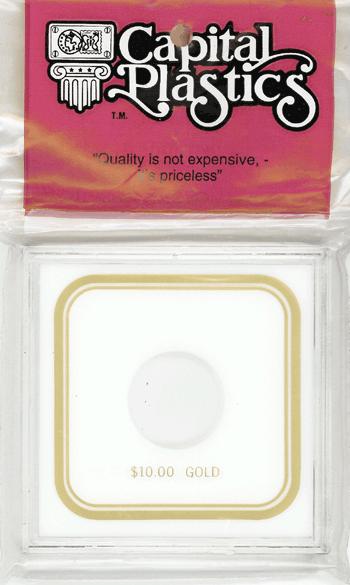 $10 Gold Capital Plastics Coin Holder VPX White 3.3x3.3 $10 Gold Capital Plastics Coin Holder VPX White, Capital, VPX