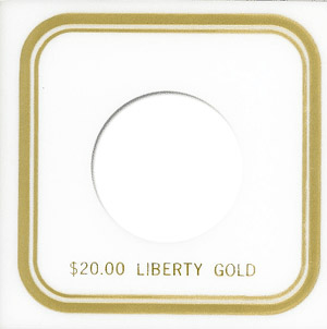 $20 Liberty Capital Plastics Coin Holder VPX White 3.3x3.3 $20 Liberty Capital Plastics Coin Holder VPX White, Capital, VPX