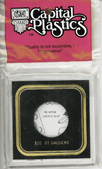 St. Gaudens Capital Plastics Coin Holder VPX Black 3.3x3.3 St. Gaudens Capital Plastics Coin Holder VPX Black, Capital, VPX