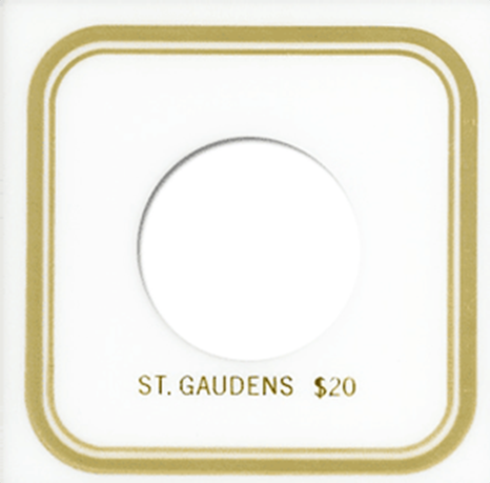 St. Gaudens Capital Plastics Coin Holder VPX White 3.3x3.3 St. Gaudens Capital Plastics Coin Holder VPX White, Capital, VPX