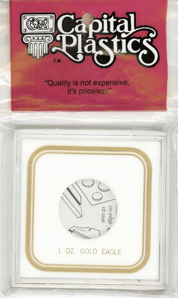 1 oz Gold Eagle Capital Plastics Coin Holder VPX Black 3.3x3.3 1 oz Gold Eagle Capital Plastics Coin Holder VPX Black, Capital, VPX