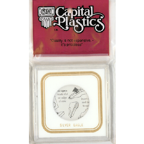 1 oz Gold Eagle Capital Plastics Coin Holder VPX White 3.3x3.3 1 oz Gold Eagle Capital Plastics Coin Holder VPX White, Capital, VPX