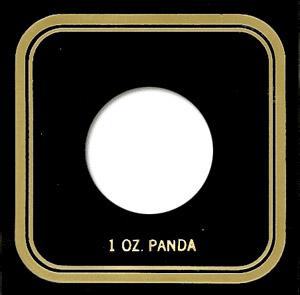 1 oz Panda Capital Plastics Coin Holder VPX Black 3.3x3.3 1 oz Panda Capital Plastics Coin Holder VPX Black, Capital, VPX