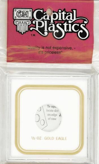 Capital Plastics 1/2 oz Gold Eagle Coin Holder VPX White