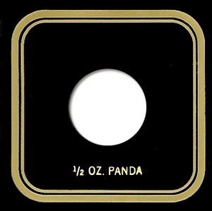 1/2 oz Panda Capital Plastics Coin Holder VPX Black 3.3x3.3 1/2 oz Panda Capital Plastics Coin Holder VPX Black, Capital, VPX