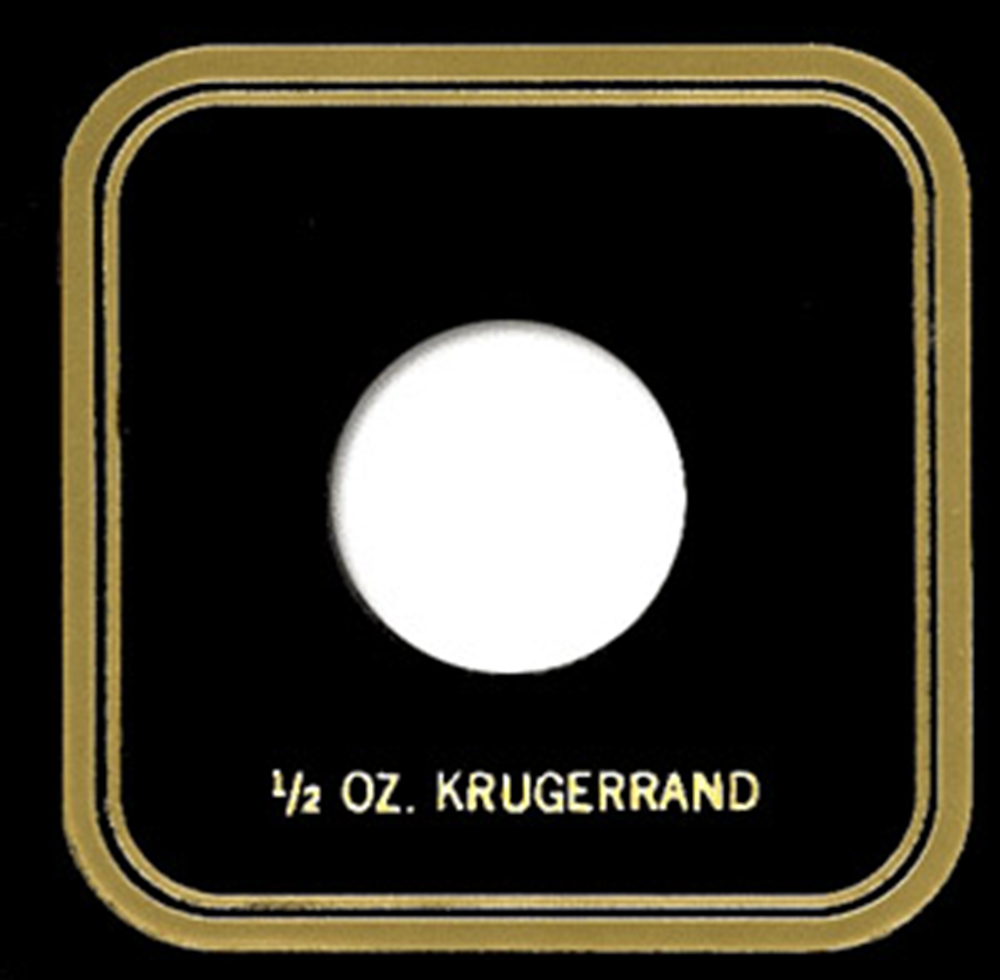 1/2 oz Krugerrand Capital Plastics Coin Holder VPX Black 3.3x3.3 1/2 oz Krugerrand Capital Plastics Coin Holder VPX Black, Capital, VPX