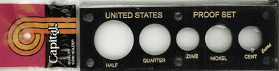 Capital Plastics U.S. Proof Set Holder - Penny thru Half Dollar - Black