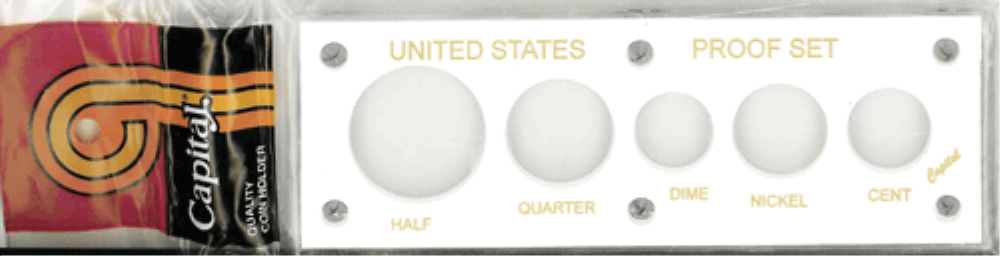 US Proof Set Capital Plastics 5 Hole White US Proof Set, Capital Plastics, 5 Hole, White, Capital, 11 White