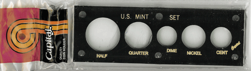 Capital Plastics U.S. Mint Set Holder - Penny thru Half Dollar - Black