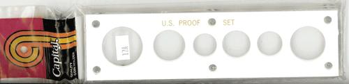 US Proof Set w/ Small Dollar Capital Plastics Holder White 2x7.5 US Proof Set w/ Small Dollar Capital Plastics Holder White, Capital, 17A White