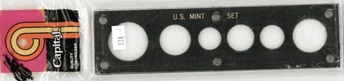 US Mint Set w/ Small Dollar Capital Plastics Holder Black 2x7.5 US Mint Set w/ Small Dollar Capital Plastics Holder Black, Capital, 17AM Black