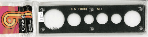Capital Plastics U.S. Proof Set Holder - Penny thru Large Dollar - Black
