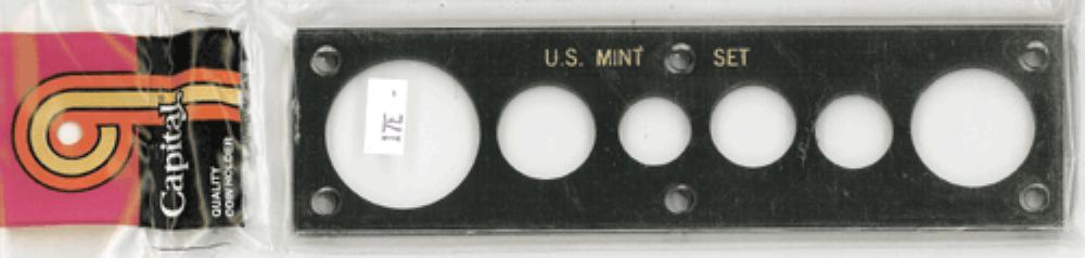 US Mint Set w/ Large Dollar Capital Plastics Holder Black 2x7.5 US Mint Set w/ Large Dollar Capital Plastics Holder Black, Capital, 17EM Black