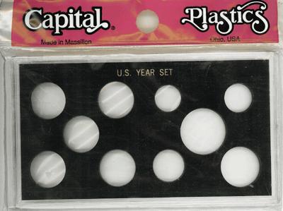 US Year Set 10 Coin Capital Plastics Holder Black Meteor US Year Set 10 Coin Capital Plastics Holder Black, Capital, MA10 Black