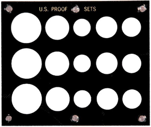 US Proof Set 15 Coin Capital Plastics Holder Black 5x6 US Proof Set 15 Coin Capital Plastics Holder Black, Capital, 22A Black