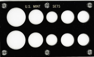 US Mint Set 10 Coin Capital Plastics Holder Black 3.5x6 US Mint Set 10 Coin Capital Plastics Holder Black, Capital, 33 Black