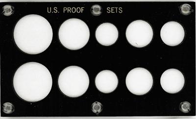 US Proof Set 10 Coin Capital Plastics Holder Black 3.5x6 US Proof Set 10 Coin Capital Plastics Holder Black, Capital, 33A Black