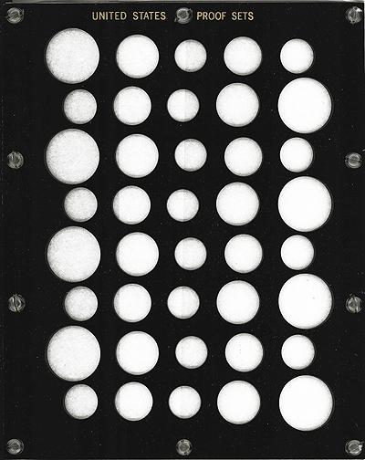 US Proof Set 40 Coin Capital Plastics Holder Black 8x10 US Proof Set 40 Coin Capital Plastics Holder Black, Capital, 461 Black