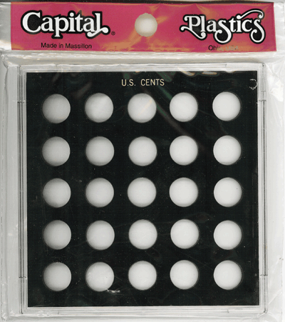 Cents 25 Coin Capital Plastics Coin Holder Black Galaxy Cents 25 Coin Capital Plastics Coin Holder Black, Capital, GX51A Black