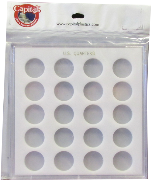 Quarters Capital Plastics Coin Holder White Galaxy Quarters Capital Plastics Coin Holder White, Capital, GX51D