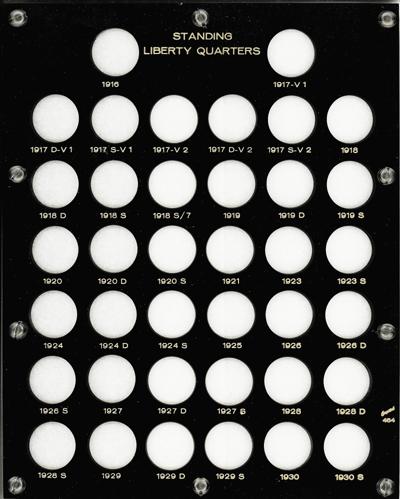 Standing Liberty Quarters Capital Plastics Coin Holder Black 8X10 Standing Liberty Quarters Capital Plastics Coin Holder Black, Capital, 464