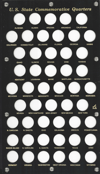 Capital Plastics State Quarter 50 Coin Coin Holder