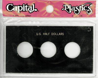 Half Dollars 3 Coin Capital Plastics Coin Holder Black Meteor Half Dollars 3 Coin Capital Plastics Coin Holder Black, Capital, MA31C