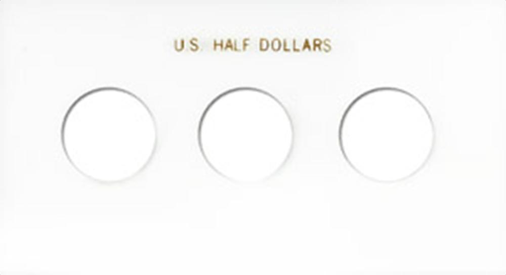 Half Dollars 3 Coin Capital Plastics Coin Holder White Meteor Half Dollars 3 Coin Capital Plastics Coin Holder White, Capital, MA31C