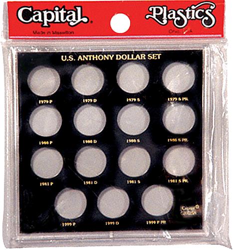 Susan B Anthony Dollar Set Capital Plastics Coin Holder Black Galaxy