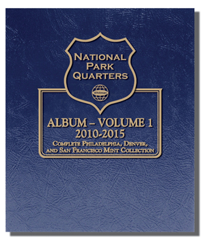 Whitman Album National Parks Quarters P,D & S Vol 1