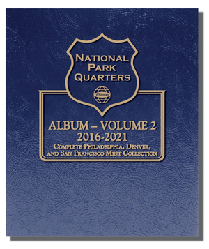 Whitman National Park Quarters Album 2016 - 2021 - Vol. 2