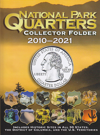 Whitman National Park Quarters Coin Folder 2010 - 2021