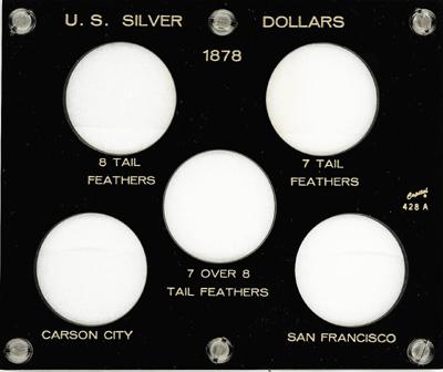 Silver Dollars of 1878 Capital Plastics Coin Holder Black 5x6