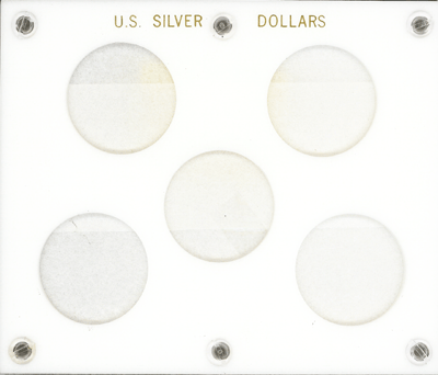 Silver Dollars Capital Plastics Coin Holder White 5x6 Silver Dollars Capital Plastics Coin Holder White, Capital, 28A
