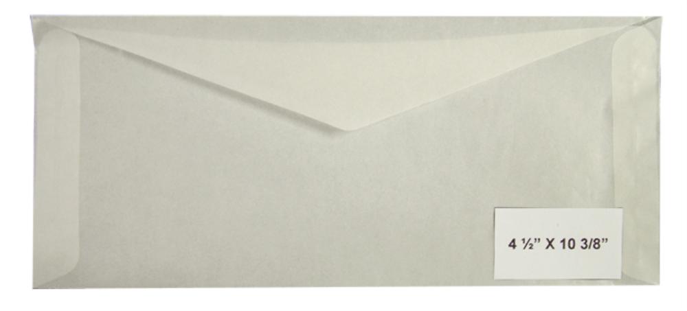 Guardhouse Glassine Envelopes No. 10 - 4 1/8x9 1/2 (500 per Pack) - 781956