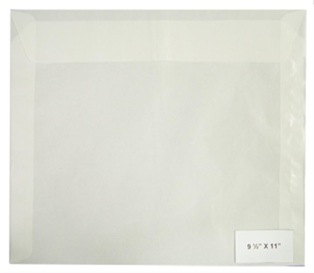 Guardhouse Glassine Envelopes No. 11 - 4 1/2x10 3/8 (500 per Pack) - 781957