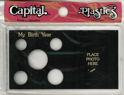 My Birth Year Capital Plastics Photo / 5 Coin Holder Black Meteor My Birth Year Capital Plastics Photo / 5 Coin Holder Black, Capital, MA32 Black